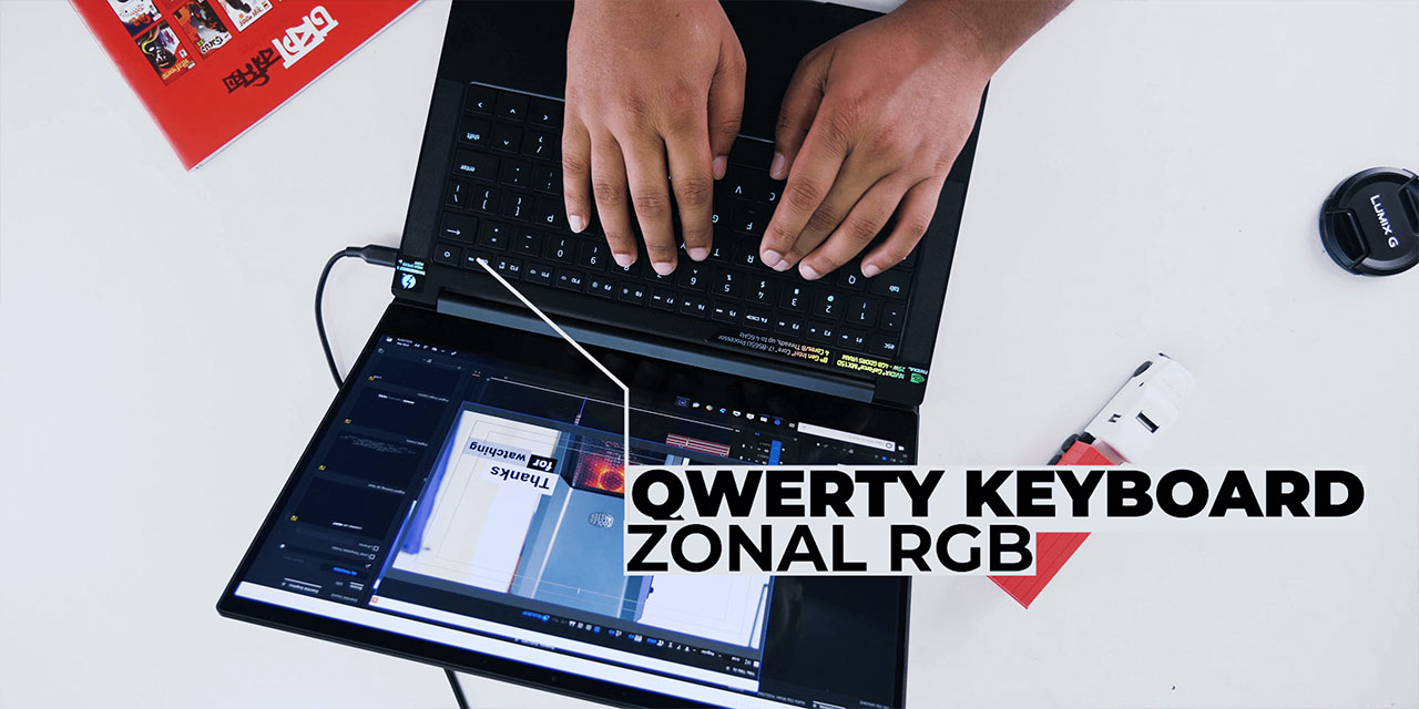 Razer Stealth Equipped with Qwerty keyboard and zonal RGB