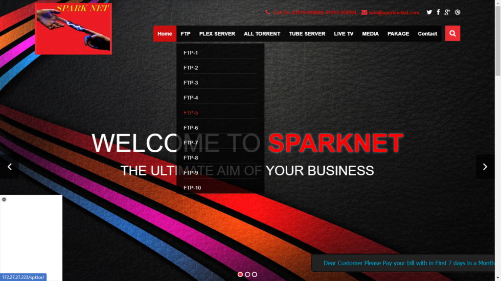 SparkNetBD (10-in-one FTP Server Bangladesh)